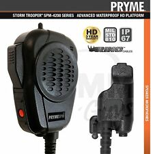 Pryme® Storm Trooper™ IP67 HD Shoulder Microphone for Motorola XTS Series Radios