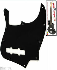 NEW PICKGUARD Jazz Bass black 1 ply pour Fender, Squier ou autre JBass etc