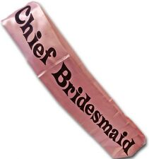Hen Party Night Essential CHIEF BRIDESMAID Fabric Pink Sash Fits One Size Ladies