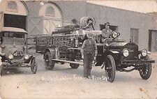 Nebraska NE Fremont Fire Department Hook & Ladder Dart Truck Real Photo RP PC