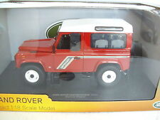 Land Rover Defender Station Wagon rojo 1:18. blanco. Su UH Distribuidor en