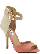 Steve Madden Women's Stepout Dress Toe Heel, Coral Multi SZ 8.5