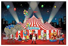 9 FOOT Carnival Big Top Tent Wall Mural Scene Setter Photo op Party Backdrop