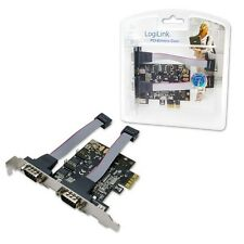PC CONTROLLER INTERN 2PORT PCIe PCI EXPRESS CARD 2xRS232 SERIELLE SCHNITTSTELLE