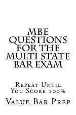 MBE Questions for the Multi State Bar Exam by Value Bar Prep (2014,...