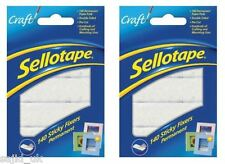280x Sellotape Permanent Double Sided Sticky Fixers Foam Pads - 12mm x 25mm