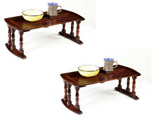 Sheesham Wood Stripe Laptop Table / Breakfast Serving Bed Table/ Made in india