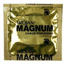 100 Pack Trojan Magnum Premium Large Lubricated Latex Condoms Bulk Packaging