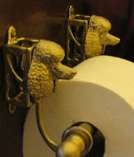 POODLE Bronze Toilet Paper Holder OR Paper Towel Holder!