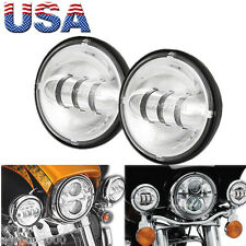 2 x 4.5'' Chrome LED Auxiliary Passing Lights f Harley Davidson Ultra Classic