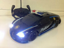 BUGATTI VEYRON POLICE Radio Remote Control Car LED Lights 1/18