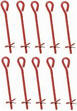 """10 Midwest  901113A 3"""" x 30"""" Red Metal Screw In Twist Tree Stake Ground Anchors"""