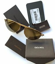 Tom Ford TF108 JAMES BOND 007 28L Sunglasses Gold Frame Brown Mirror Lenses NEW