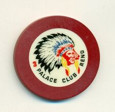 PALACE CLUB MAROON TABLE  3--RARE--  CASINO POKER  CHIP---ROULETTE--RENO
