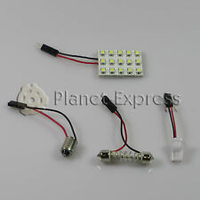 Panel 15 LED SMD C5W Festoon T10 W5W BA9S Maletero Interior.. Blanco Xenon placa