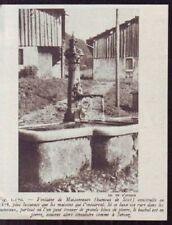 1948  --  FONTAINE DE MAIONNEUVE  HAMEAU DE SIXT   X982
