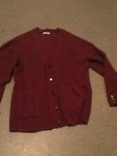 size 18/20 maroon knit cardigan in good condition