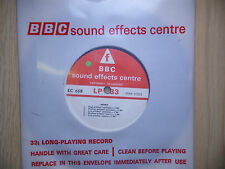 "BBC Sound Effects 7"" Record - Background Static to Echoes from Moon, Morse Code"