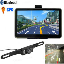 "5"" Car Truck Auto LCD GPS Navigation Bluetooth+ Wireless Rear View Backup Camera"