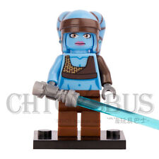 STAR WARS Aayla Secura with LightSaber Building Blocks Minifigures Toys Gifts