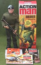 vintage action man 40th anniversary flocked hair soldier gripping hands b boxed