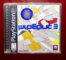 Wipeout 3 Black Label PS PS1 Playstation Adult Owned Excellent Condition