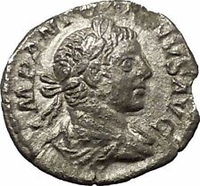 ELAGABALUS 218AD Ancient Silver Roman Coin Fides Trust Goddess Cult i53132