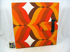 "70´s ""Flower Power"" design 12 inch LP record case  Schallplatten Mappe 07737"
