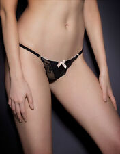 Agent Provocateur JOSELINE THONG in BLACK & PINK FRENCH LACE - AP Size 2 - BNWT