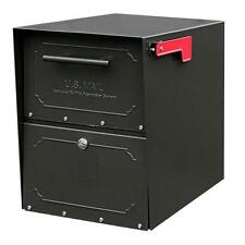 NEW ARCHITECTURAL MAILBOXES OASIS Jr LOCKING BLACK POWDER COATED SECURE MAILBOX