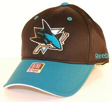 REEBOK TZM13 FACEOFF FLEX FIT HOCKEY HAT/CAP - SAN JOSE SHARKS -  L/XL