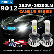 PHILIPS 25200LM 252W LED Headlight Kit 9012 6000K CANBUS Error Free From USA