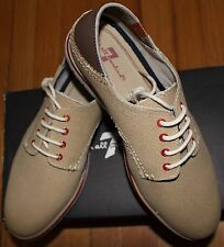 $120 7 FOR ALL MANKIND BEIGE LACE UP SNEAKER SZ 43.5EU/9.5UK/ 10.5 US