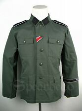 WWII German Elite M43 ReedGreen HBT Field Tunic Size M (Wiking Division)