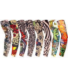 8 Pcs Nylon Temporary Fake Tattoo Sleeves Arm Stockings Goth Punk - UK