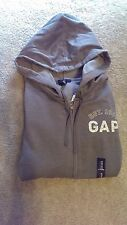 New Women's Gap Gray Zip-Up Hoodie Sweatshirt Size Medium