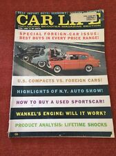 (5542) Car Life Magazine June 1960 Cushman Road King Wankel Anglia