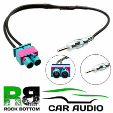 Audi A6 2004 On Car Stereo Radio Twin Fakra-Din Aerial Antenna Adaptor CT27AA51