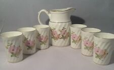 Vintage Bone China Tea Set (Dadoos) Pitcher & Six Cups Good Condition-Pre-Owned