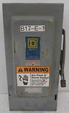 SQUARE D, SAFETY SWITCH, H362, SERIES E1, 60 AMP, 600 VAC, PH 3