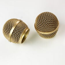 2x Mesh Microphone Grille For Shure SM58 565SD LC Microphone ,Copper Plated