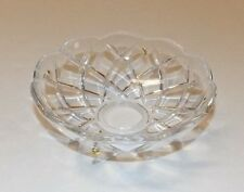 "NEW 4"" PRESSED GLASS BOBECHE WITH 4 BRASS PINS 21900JB"