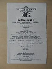 City Center Theatre Playbill - Bye Bye Birdie - Playbill Insert