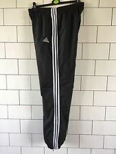 MENS BLACK VINTAGE ADIDAS SHELLSUIT TRACKSUIT BOTTOMS JOGGERS SWEATPANTS MEDIUM