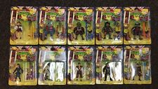 1993 TEENAGE MUTANT NINJA TURTLES MOVIE III 10 FIGURE SET MOC TMNT J22