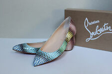 New 10.5 41 Christian Louboutin Pigalle Water snake leather point toe Flat Shoes