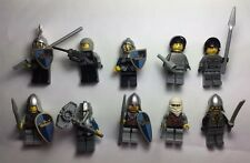 Lego Castle Kingdom 10 KNIGHTS minifigures vintage Mini Helmets, Shields Lot