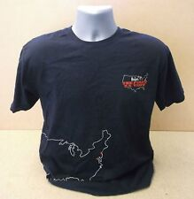 THE BEATLES The First U.S. Visit UK promo blue cotton T shirt NEW/UNWORN Large