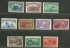 """US 1893 Amazing Old V.F. Mint NG Stamps """"COLUMBIAN ISSUE"""" Sc.# 230-239  CV 850 $"""