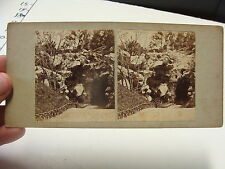 vintage Steroview card--GROTTO in ITALY homemade card??